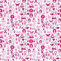 modèle sans couture de cancer du sein pour le mois de sensibilisation d'octobre.