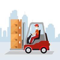 bannière de livraison et logistique