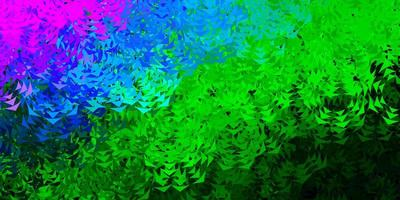 fond de vecteur bleu clair, vert avec des triangles.