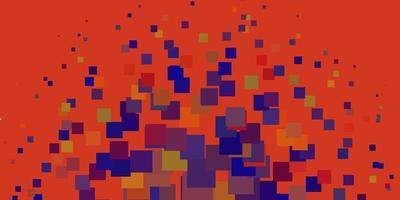 toile de fond de vecteur bleu clair, rouge avec des rectangles.