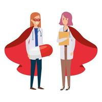 femmes médecins comme super héroïnes