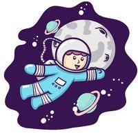 Astronaute mignon vecteur