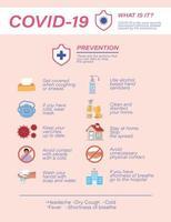 conception de vecteur de conseils de prévention des virus covid 19