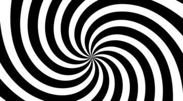 fond radial tourbillon spirale noir et blanc. fond de vortex et d'hélice. illustration vectorielle
