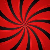 fond radial tourbillon spirale noir et rouge. fond de vortex et d'hélice. illustration vectorielle