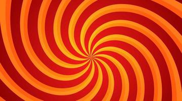fond radial tourbillon spirale rouge et jaune. fond de vortex et d'hélice. illustration vectorielle