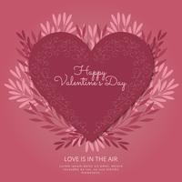 Composition de vecteur Saint Valentin