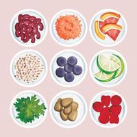 Illustration vectorielle Super Foods vecteur