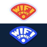 zone wifi. autocollant pour le contenu des médias sociaux. conception d'illustration vectorielle dessinés à la main. vecteur