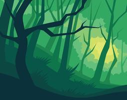 Illustration de forêt abstraite vecteur