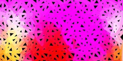 motif de mosaïque triangle vecteur rose clair, jaune.