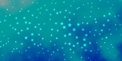 texture de vecteur bleu foncé avec de belles étoiles.
