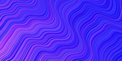 toile de fond de vecteur rose clair, bleu avec des courbes.