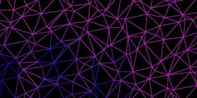 texture de triangle poly violet foncé, rose vecteur.