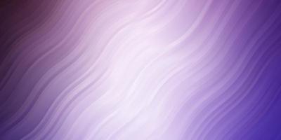 toile de fond de vecteur violet clair avec des courbes.