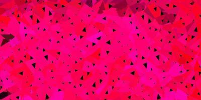 texture de polygone dégradé vecteur rose clair.