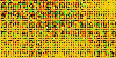 mise en page de vecteur multicolore sombre avec des formes de cercle.