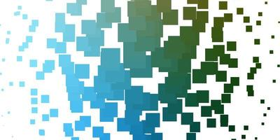 texture de vecteur bleu clair, vert dans un style rectangulaire.