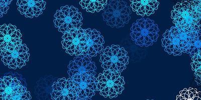 toile de fond naturel vecteur bleu clair avec des fleurs.