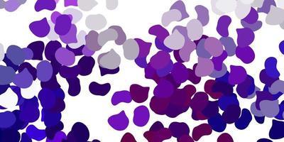 fond de vecteur violet clair avec des formes aléatoires.