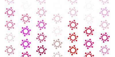 modèle vectoriel rose clair avec des signes de grippe.