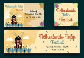 Invitation au Festival des tulipes des Pays-Bas vecteur