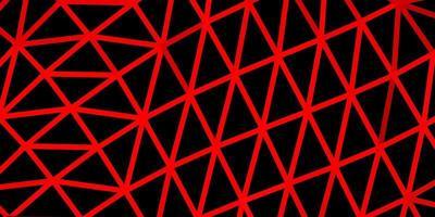 modèle de mosaïque triangle vecteur rouge clair.