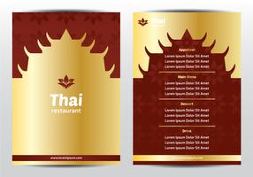 Menu Thaïlandais Élégant Traditionnel vecteur