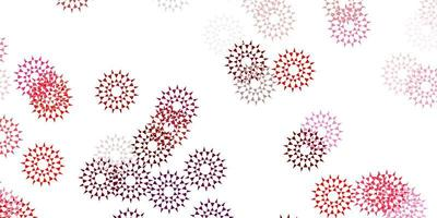 illustrations naturelles de vecteur rose clair, rouge avec des fleurs.