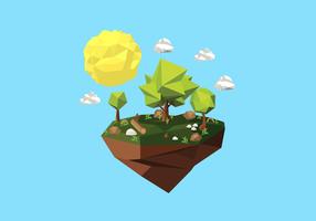 Illustration de fond de forêt Low Poly