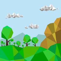 Illustration vectorielle Low Poly Forest vecteur