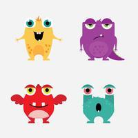 Mignons petits monstres vecteur