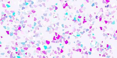 toile de fond de vecteur rose clair, bleu avec des formes chaotiques.