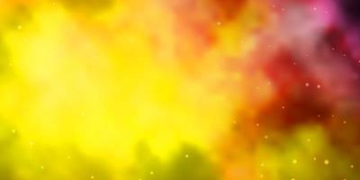 modèle vectoriel rose clair, jaune avec des étoiles abstraites.