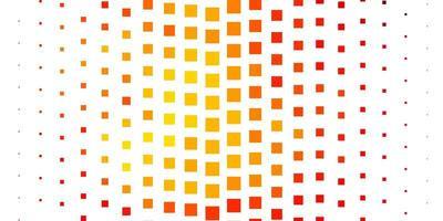 disposition de vecteur rouge et jaune clair avec des lignes, des rectangles.
