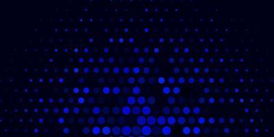 modèle vectoriel bleu foncé avec des cercles.