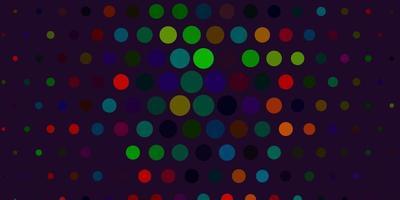 texture de vecteur vert clair, rouge avec des disques.