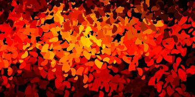 modèle vectoriel orange foncé avec des formes abstraites