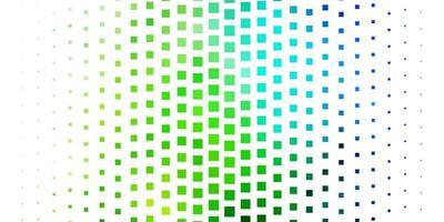 modèle vectoriel bleu clair, vert dans des rectangles.