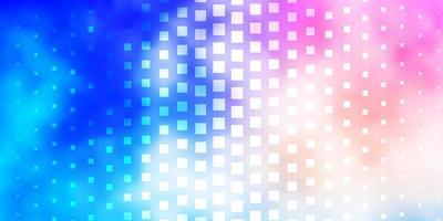 disposition de vecteur rose clair, bleu avec des lignes, des rectangles.