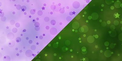 fond de vecteur avec des cercles, des étoiles.