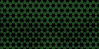 texture vecteur vert foncé avec des symboles de religion.