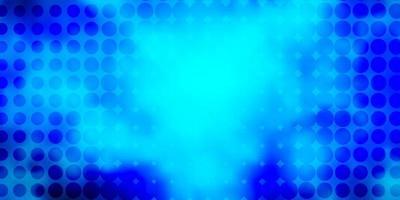 texture de vecteur bleu foncé avec des disques.