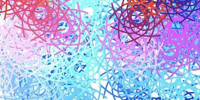 texture de vecteur multicolore léger avec des formes de memphis.