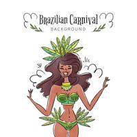 Danseuse brésilienne sexy et exotique vecteur