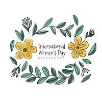 Ornements floraux mignons avec des fleurs jaunes vecteur