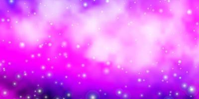 disposition de vecteur rose clair, bleu avec des étoiles brillantes.