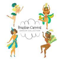 Collection de danseurs brésiliens vecteur