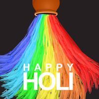 Bonne couleur de l'eau Holi vecteur