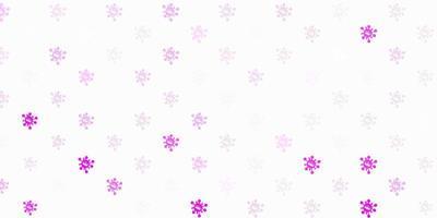 modèle vectoriel violet clair avec des signes de grippe
